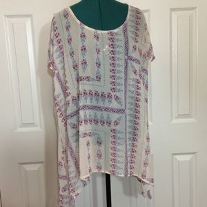 American Rag Sheer Tunic Blouse